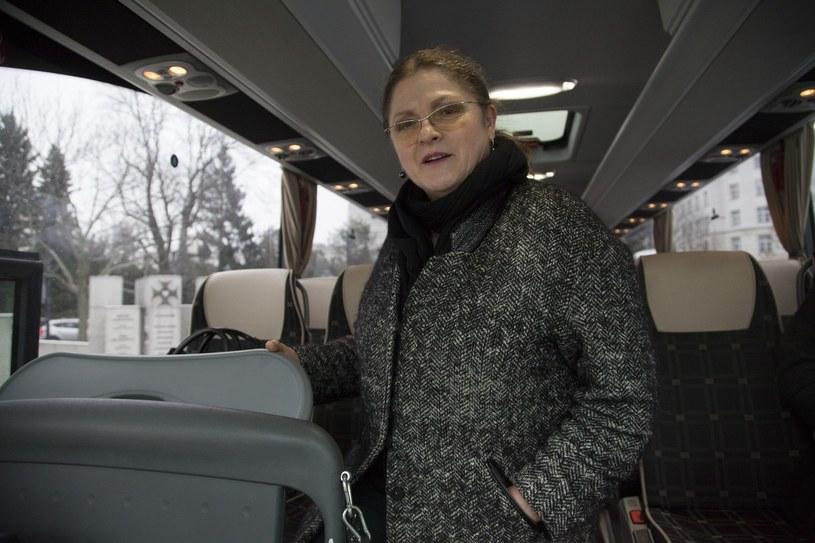 Krystyna Pawłowicz w drodze na jedno z wyjazdowych posiedzeń klubu PiS /Adam Jagielak / REPORTER /East News