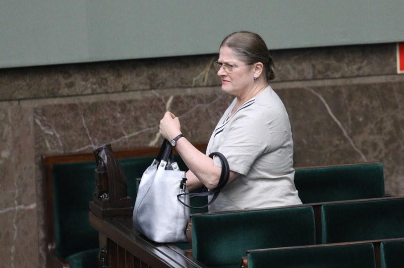 Krystyna Pawłowicz w Sejmie /Tomasz Jastrzebowski/REPORTER /Reporter