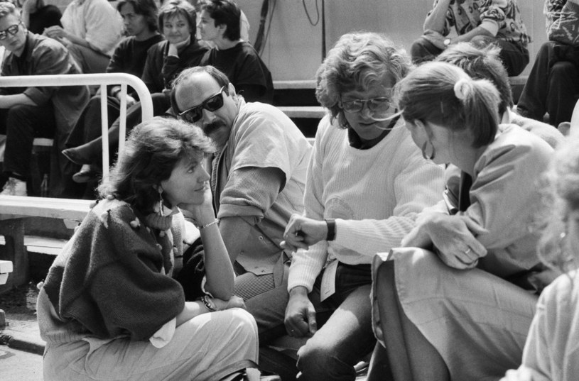 Krystyna Prońko, Andrzej Zaucha, Zbigniew Wodecki i Katarzyna Dowbor. XXIII Krajowy Festiwal Piosenki Polskiej w Opolu, rok 1986 /Jacek Barcz /Agencja FORUM