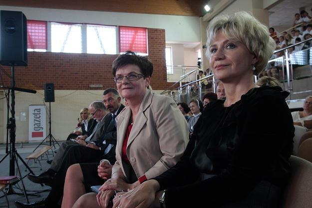Krystyna Szumilas na inauguracji roku szkolnego w Jarocinie, fot. T. Wojtasik /PAP