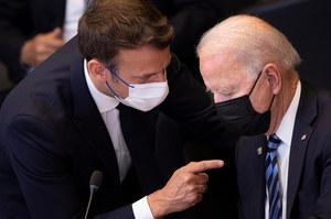 Kryzys dyplomatyczny. Joe Biden chce rozmawiać z prezydentem Francji
