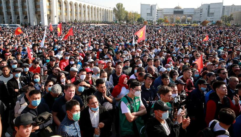 Kryzys polityczny w Kirgistanie trwa od niedzieli, gdy ogłoszono rezultaty wyborów parlamentarnych /IGOR KOVALENKO /PAP/EPA