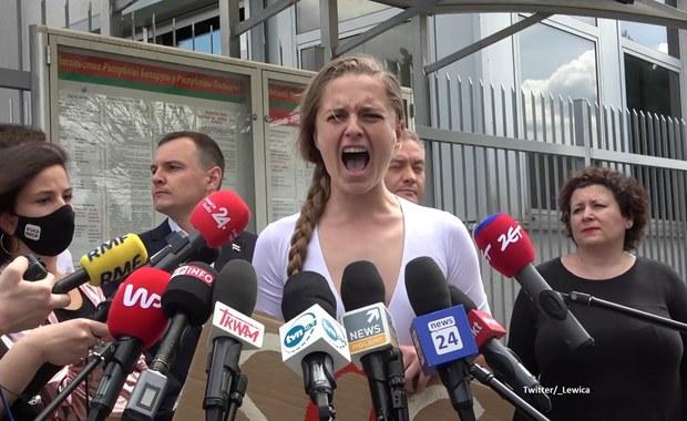 Krzyk aktywistki. Chciała zwrócić uwagę na sytuację na Białorusi
