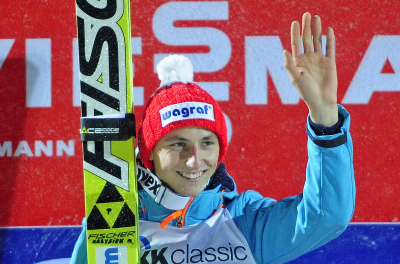 Krzysztof Biegun na najwyższym stopniu podium /AFP