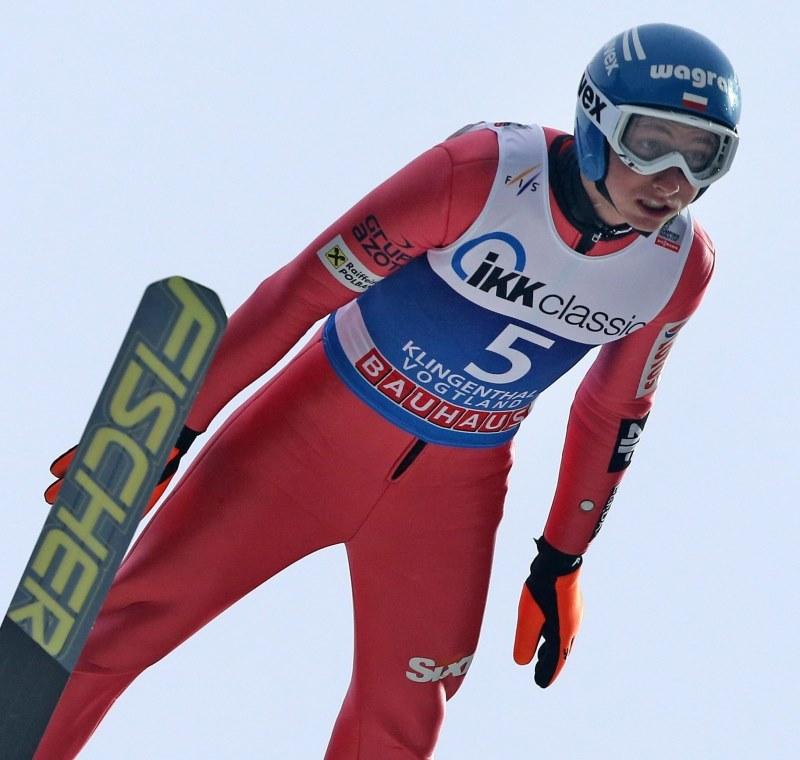 Krzysztof Biegun, sensacyjny lider klasyfikacji generalnej Pucharu Świata /PAP/EPA