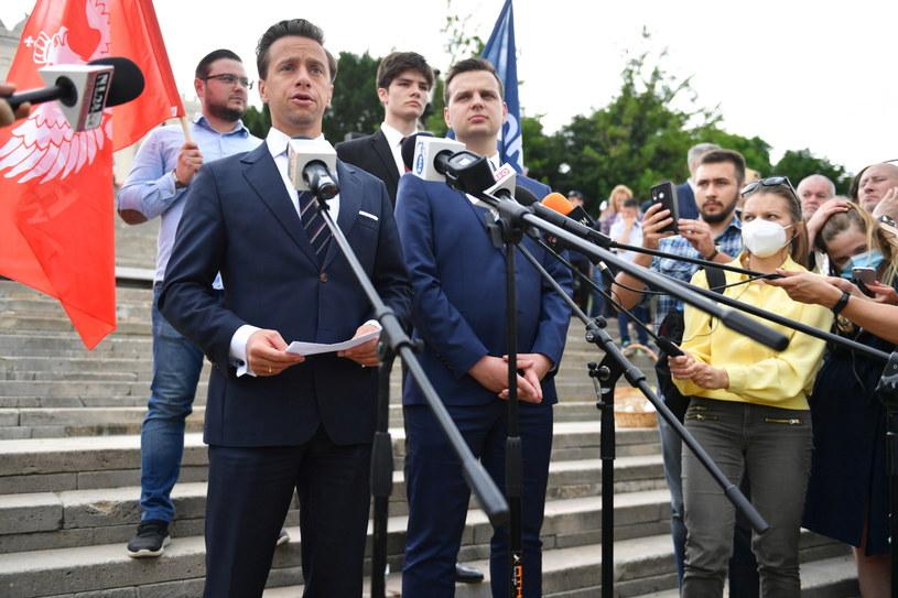 Krzysztof Bosak na spotkaniu z wyborcami w Lublinie /Wojtek Jargiło /PAP