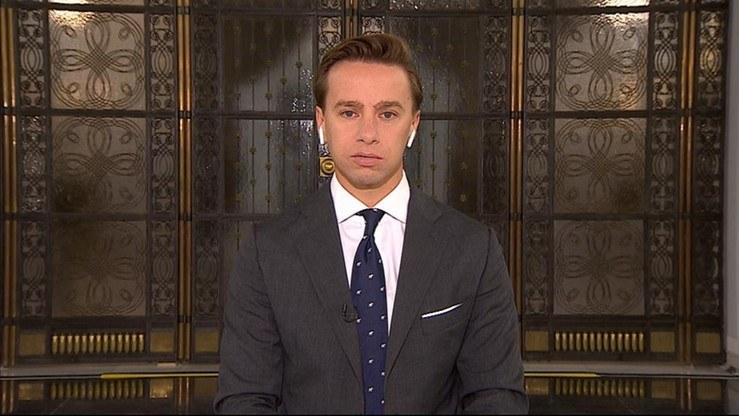 """Krzysztof Bosak w programie """"Gość Wydarzeń"""" /Polsat News"""