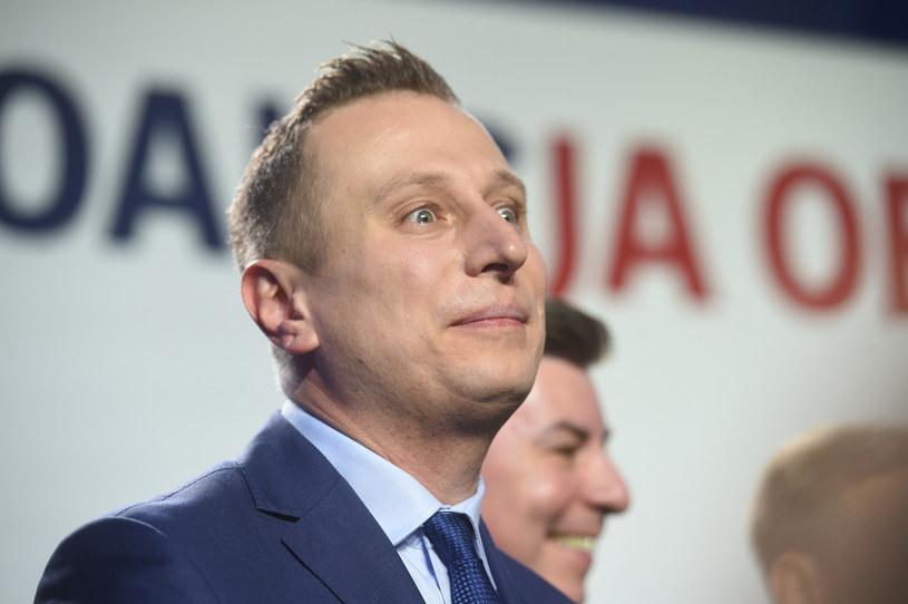 Krzysztof Brejza podczas wieczory wyborczego KO / Zbyszek Kaczmarek / Reporter