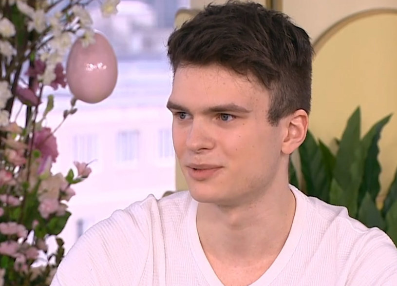 """Krzysztof Cugowski Junior/ screen z """"Dzień dobry TVN"""" /TVN"""