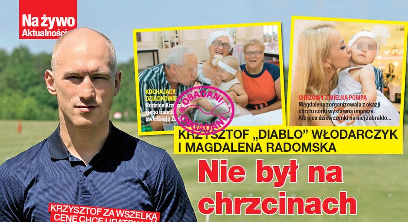 """Krzysztof """"Diablo"""" Włodarczyk nie pojawił się na chrzcinach córki /Na żywo"""
