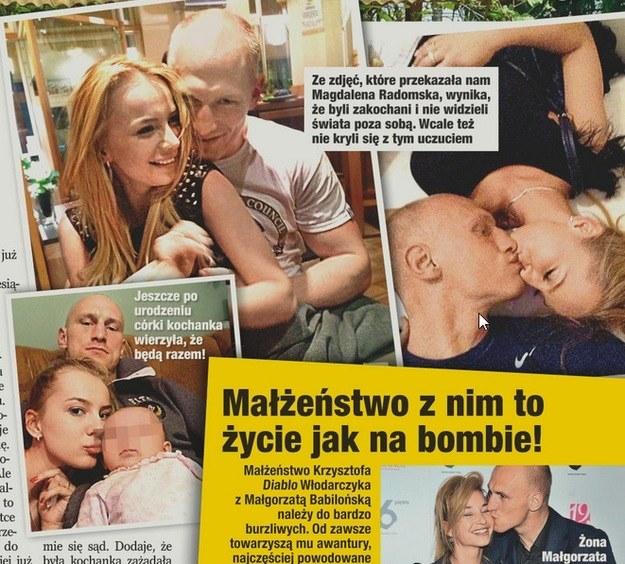 """Krzysztof """"Diablo"""" Włodarczyk z kochanką Magdaleną /Twoje Imperium"""