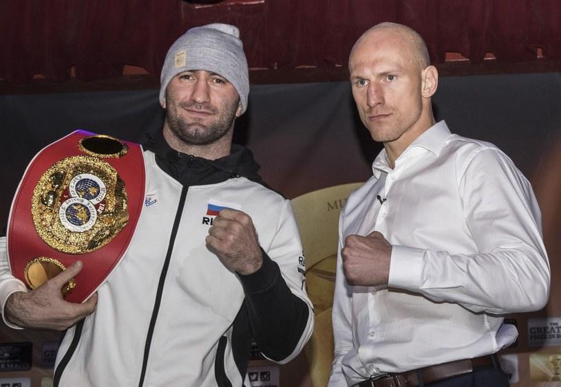 """Krzysztof """"Diablo"""" Włodarczyk (z prawej) i Murat Gassijew /fot. Wojciech Kubik /East News"""