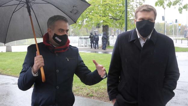 Krzysztof Gawkowski i Adrian Zandberg /Wojciech Olkuśnik /PAP