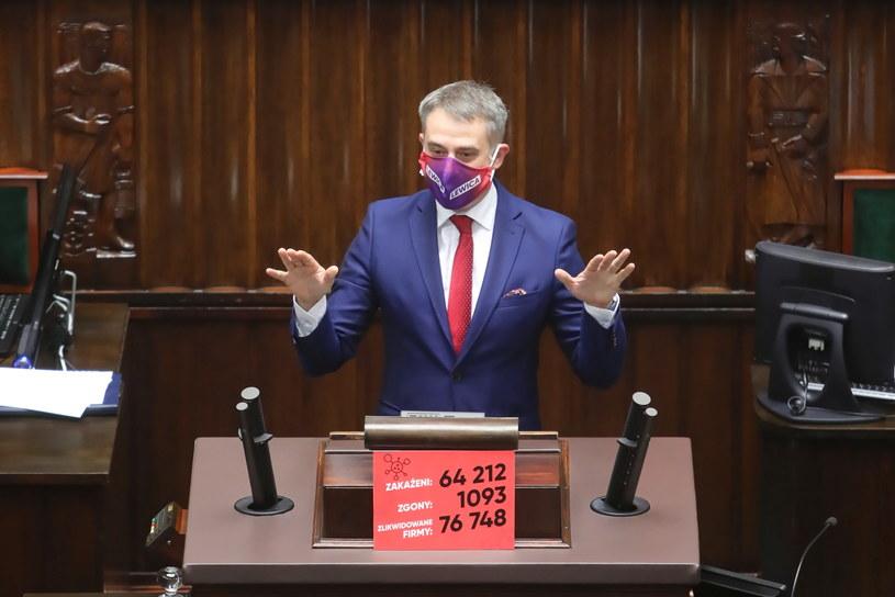 Krzysztof Gawkowski na ostatnim posiedzeniu Sejmu /Wojciech Olkuśnik /PAP