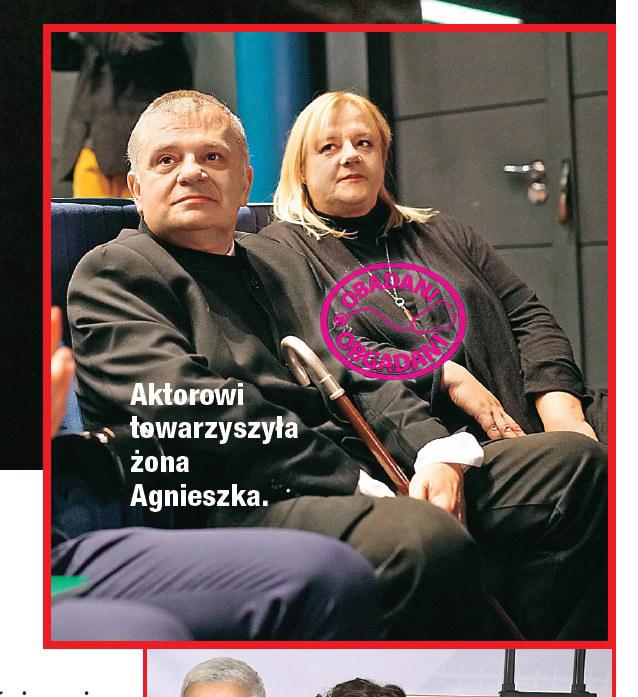 Krzysztof Globisz z żoną Agnieszką /Dobry Tydzień