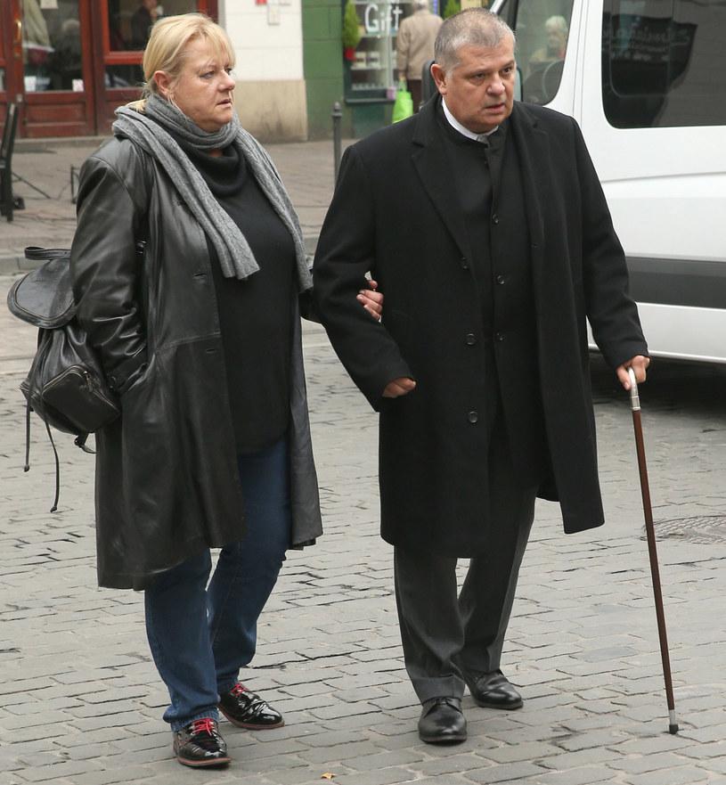 Krzysztof Globisz z żoną /Damian Klamka /East News