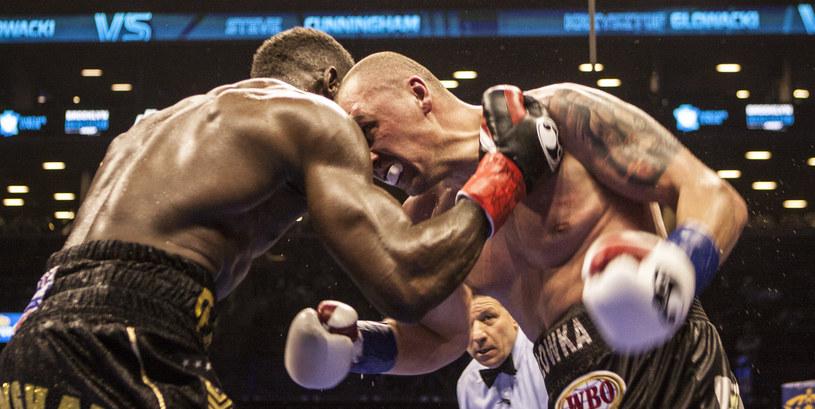 Krzysztof Głowacki w walce ze Steve'em Cunninghamem /Bill Tompkins /Getty Images