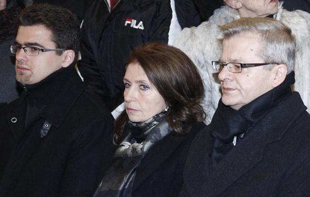 Krzysztof Gospodarek z żoną i synem /Engelbrecht /AKPA