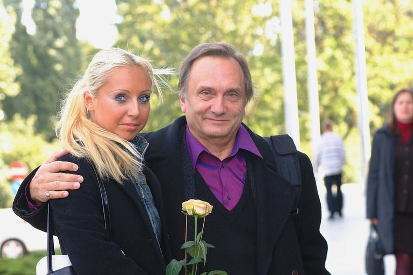 Krzysztof Gradowski z córką Alicją (2001) /AKPA