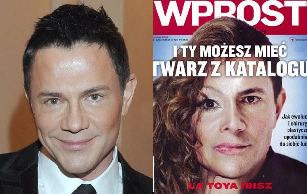 """Krzysztof Ibisz na słynnej już okładce """"Wprost"""", fot.Szilagyi  /MWMedia"""