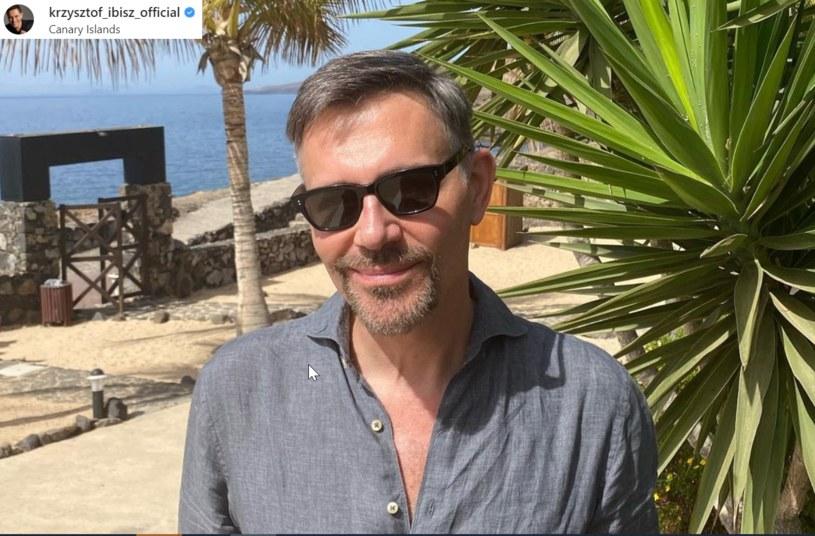 Krzysztof Ibisz odpoczywa na Wyspach Kanaryjskich odpoczywa razem z młodą narzeczoną /Instagram
