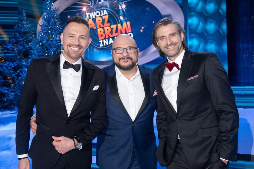 Krzysztof Ibisz, Piotr Gąsowski i Maciej Dowbor /Polsat /Polsat