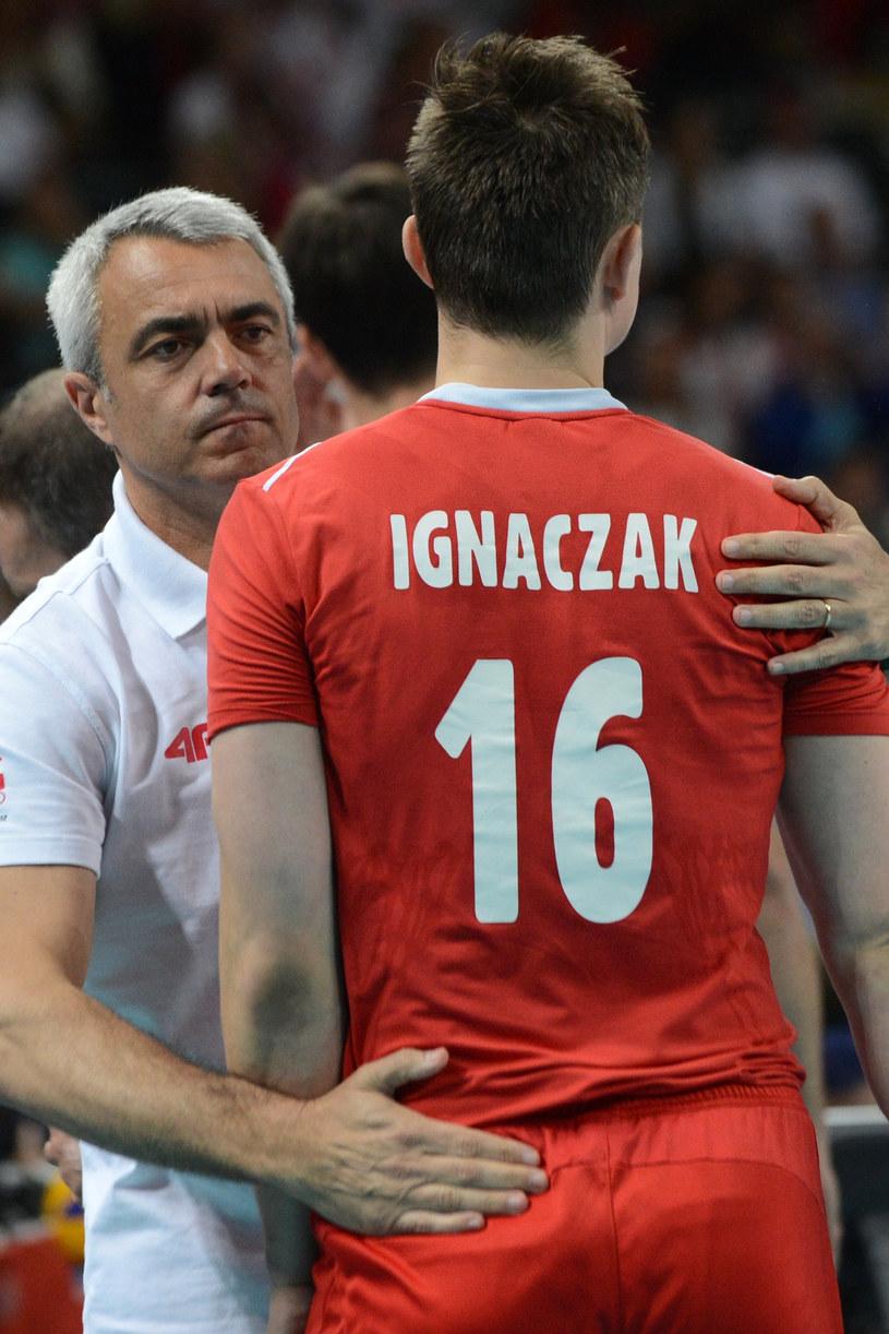 Krzysztof Ignaczak i trener reprezentacji Polski Andrea Anastasi /AFP