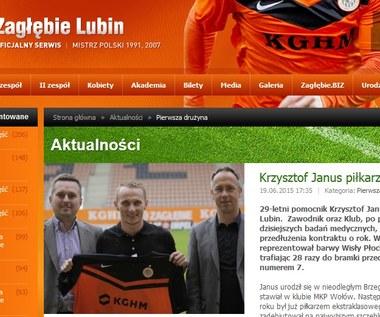 Krzysztof Janus został pomocnikiem KGHM Zagłębia Lubin