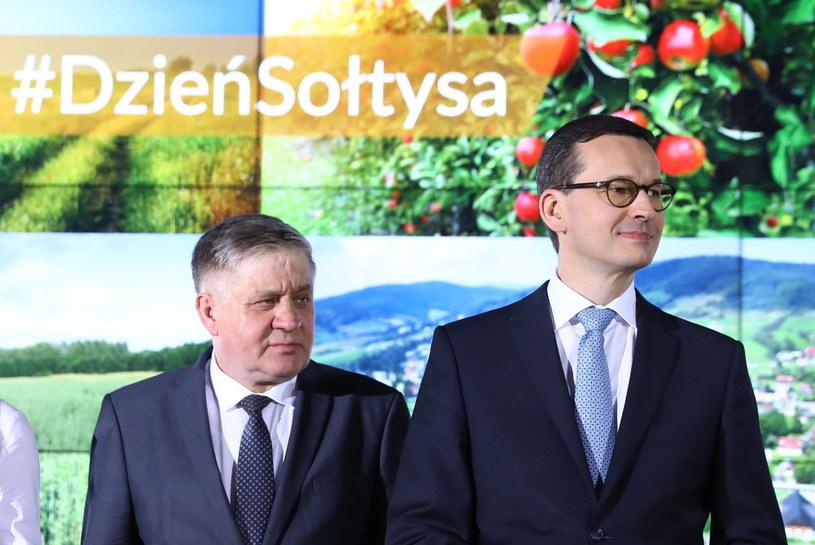 Krzysztof Jurgiel i Mateusz Morawiecki w Przysusze /Rafał Guz   /PAP
