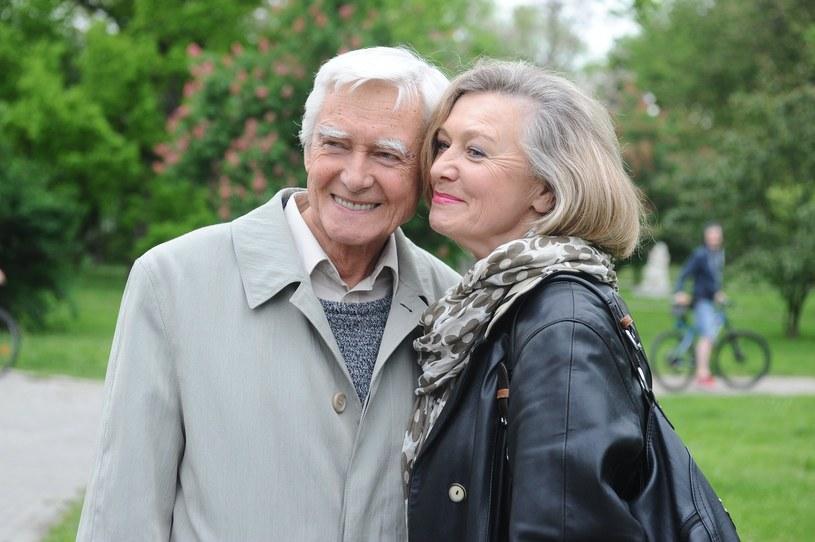 Krzysztof Kalczyński z żoną Haliną Rowicką /AKPA