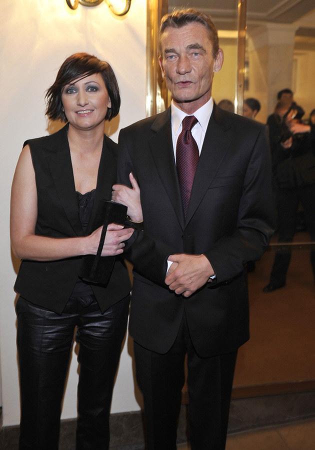 Krzysztof Kiersznowski z partnerką, fot.Kurnikowski  /AKPA