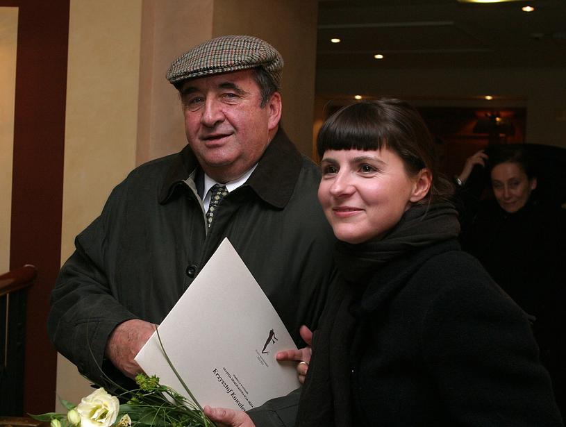 Krzysztof Kowalewski i Agnieszka Suchora w 2003 roku /Piotr Fotek /East News