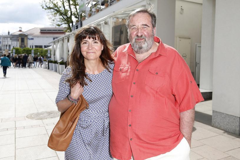 Krzysztof Kowalewski z żoną Agnieszką Suchorą /AKPA