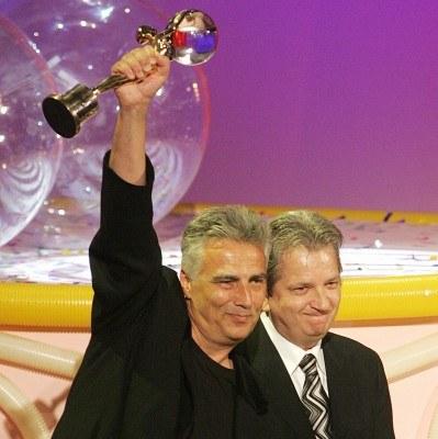 Krzysztof Krauze z nagrodą festiwalu w Karlowych Varach /AFP