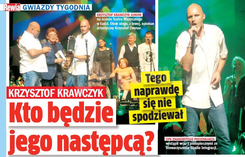 Krzysztof Krawczyk junior na scenie /Rewia
