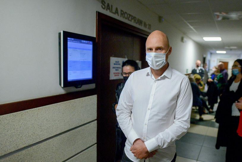 Krzysztof Krawczyk junior w sądzie /Piotr Kamionka/ REPORTER /East News
