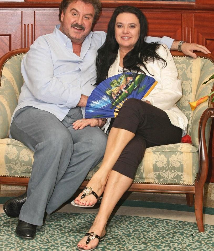 Krzysztof Krawczyk z żoną Ewą /Marcin Dlawichowski /Agencja FORUM