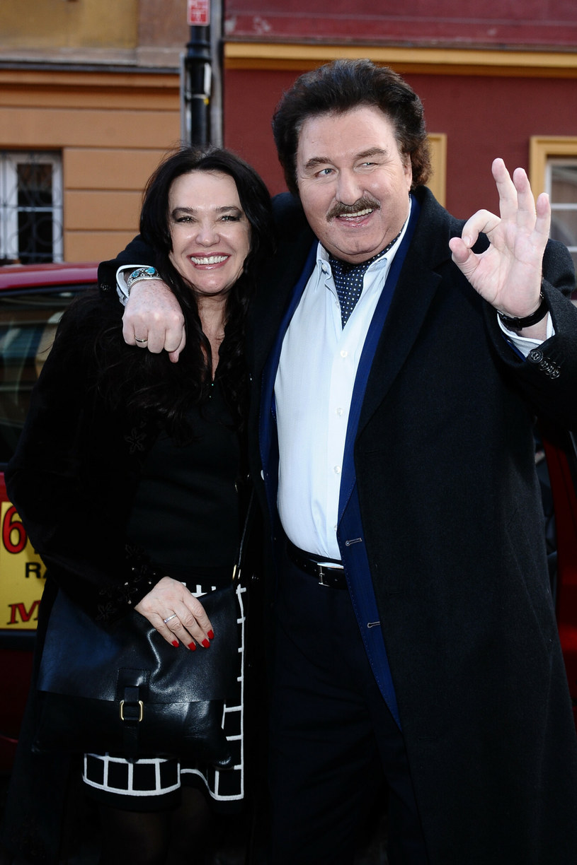 Krzysztof Krawczyk z żoną Ewą /VIPHOTO /East News