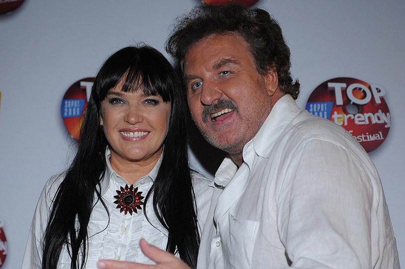 Krzysztof Krawczyk z żoną /MWMedia