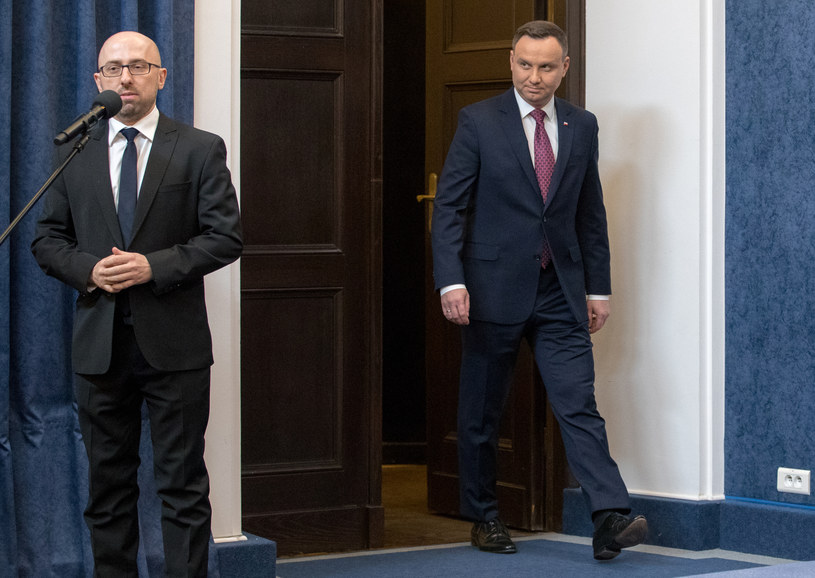 Krzysztof Łapiński i Andrzej Duda /Andrzej Iwańczuk /Reporter