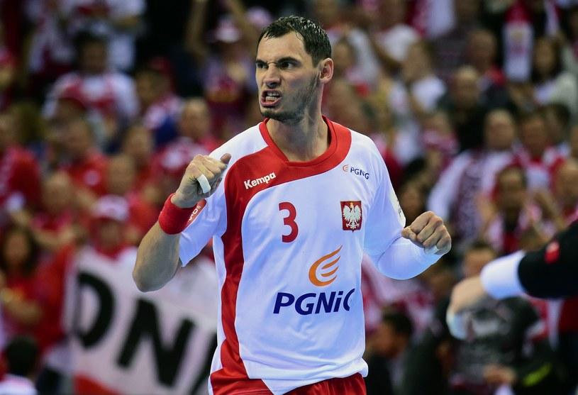 Krzysztof Lijewski w meczu z Macedonią. /AFP
