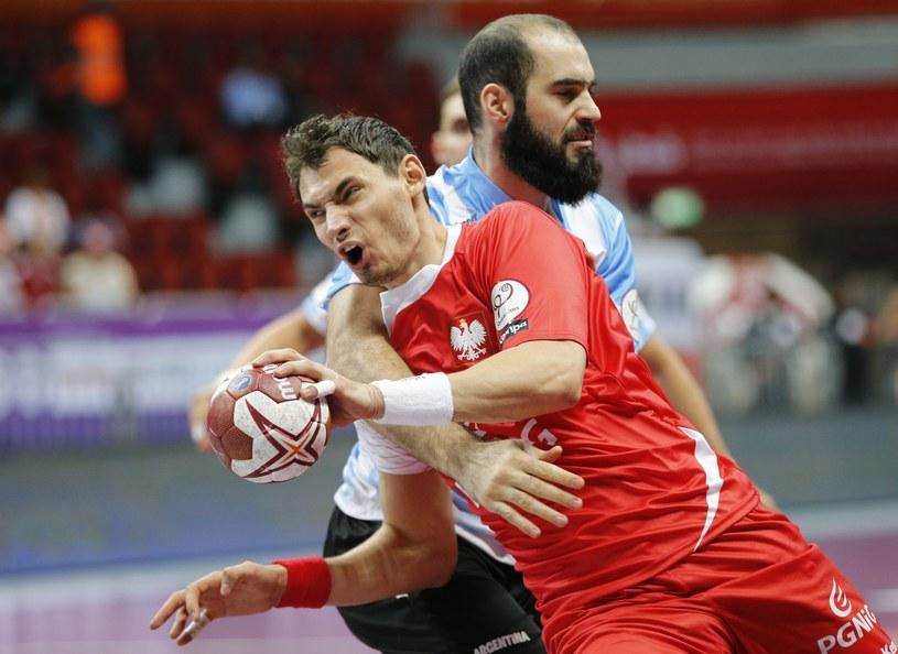 Krzysztof Lijewski zdobył pięć goli w meczu z Argentyną /PAP/EPA