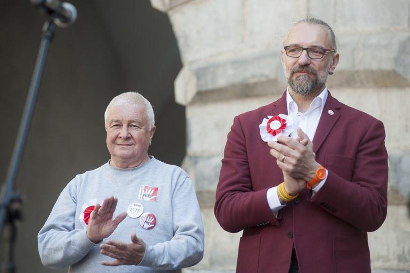 Krzysztof Łoziński i Mateusz Kijowski /Wojciech Stróżyk /Reporter