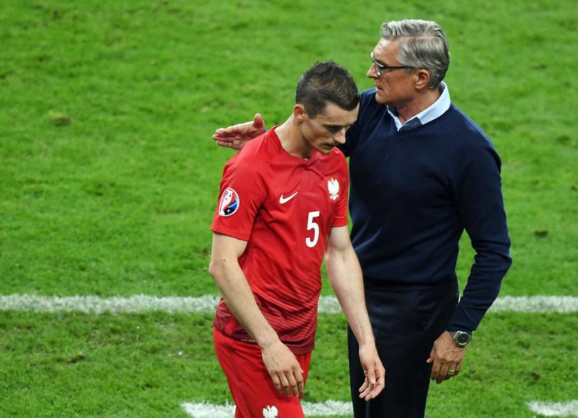 Krzysztof Mączyński i Adam Nawałka /AFP