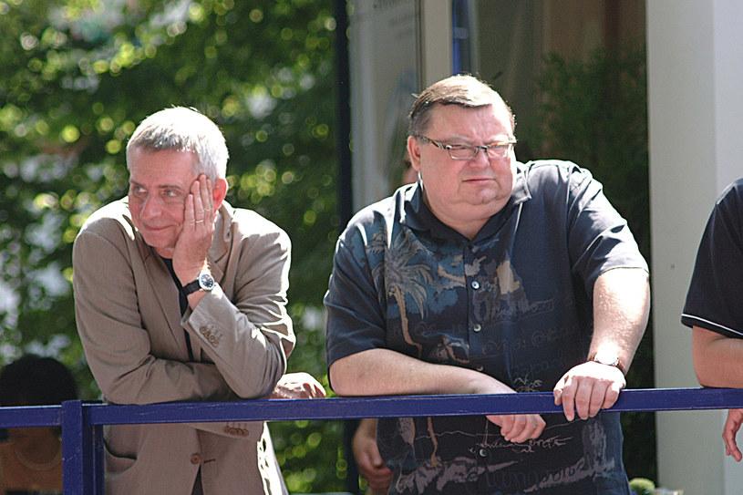 Krzysztof Materna i Wojciech Mann w 2002 roku /AKPA