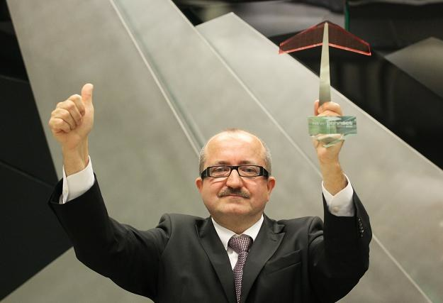 Krzysztof Olbrycht, prezes Biofactory, w czasie debiutu na NewConnect /PAP