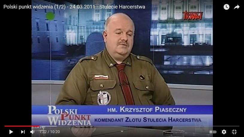 Krzysztof Piaseczny (Screen:youtube.com) /materiał zewnętrzny