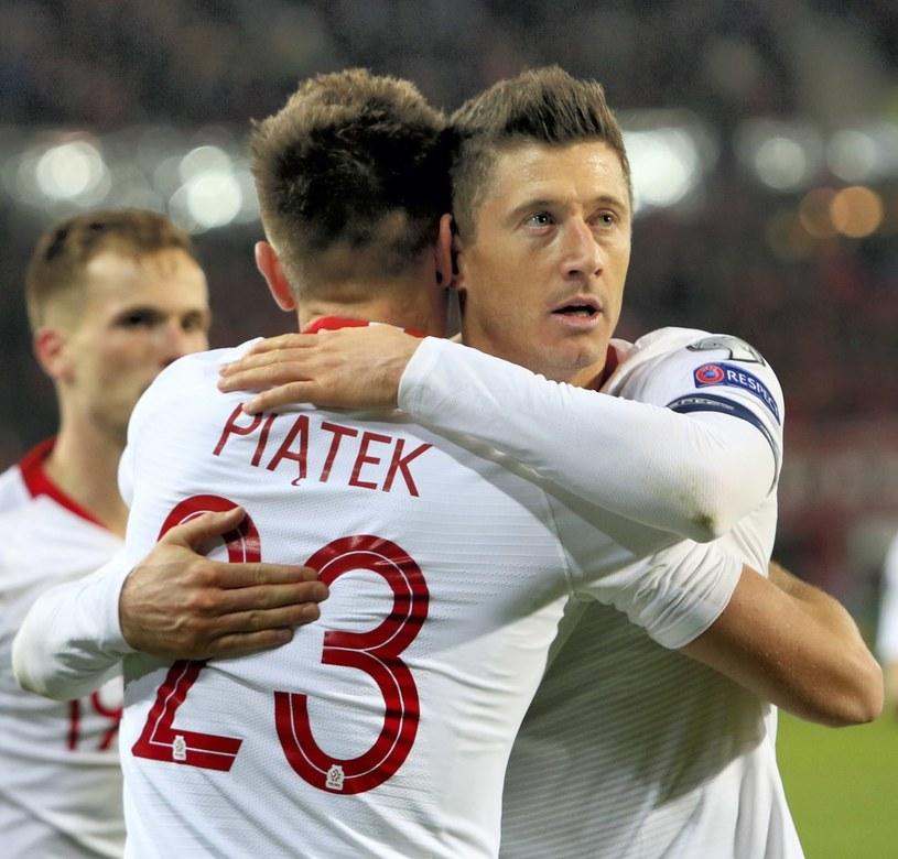 Krzysztof Piątek (L) i Robert Lewandowski /Leszek Szymański /PAP