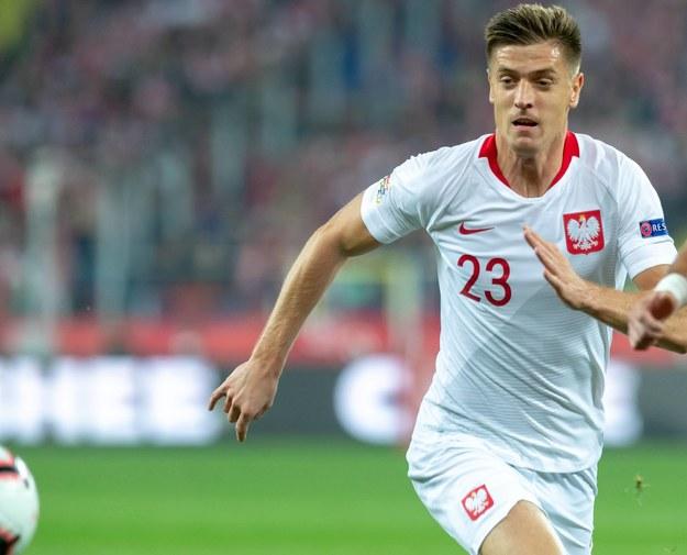Krzysztof Piątek podczas meczu Polska - Portugalia / Andrzej Grygiel /PAP
