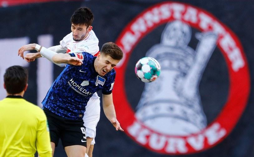 Krzysztof Piątek w meczu VfB Stuttgart - Hertha Berlin / Ralph Orlowski / Stringer /AFP